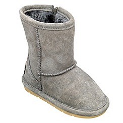 Chipmunks - Girls grey 'jersey' suede boot