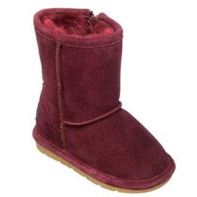 Chipmunks Girls burgundy ´jersey´ suede boot - . -