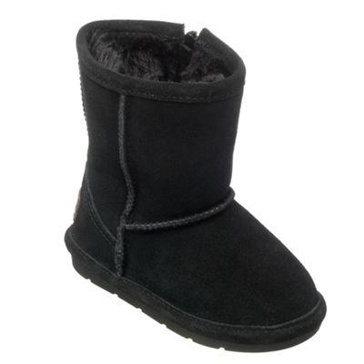Chipmunks Girls black ´jersey´ suede boot - . -