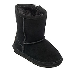 Chipmunks - Girls black 'jersey' suede boot