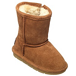 Chipmunks - Girls tan 'jersey' suede boot