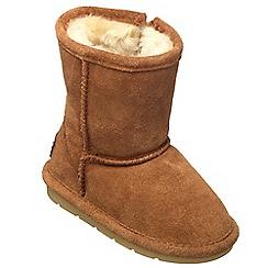 Chipmunks - Girls tan 'jersey' suede boot