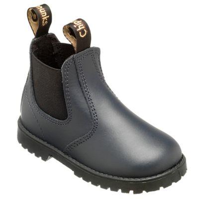 Chipmunks Boys navy jodhpur style boot - . -
