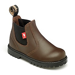 Chipmunks - Boys dark brown leather jodhpur ankle boot