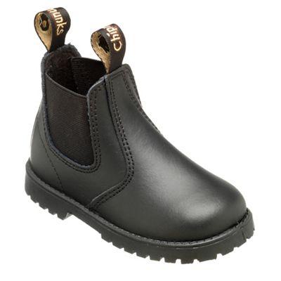 Chipmunks Boys black jodhpur style boot - . -