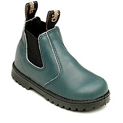 Chipmunks - Boys teal leather jodhpur ankle boot
