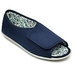 Freestep - Navy microsuede ladies slipper