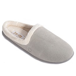 Freestep - Grey suede ladies mule slipper