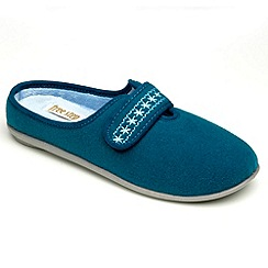 Freestep - Teal felt ladies slipper