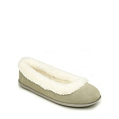 Freestep - Cool grey suede ladies slipper