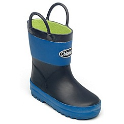 Chipmunks - Boys light and dark blue wellingtons