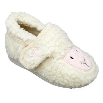 Chipmunks Girls cream lucky the lamb slipper - . -
