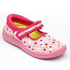 Chipmunks - Girls 'Lulu' pink canvas shoe