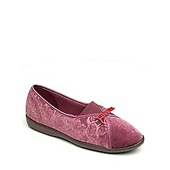 Freestep - Heather velour ladies slipper