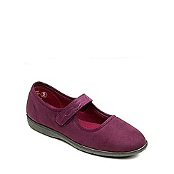 Freestep - Burgundy microsuede ladies slipper