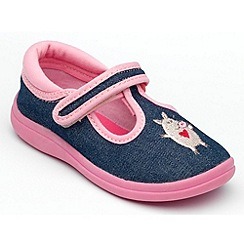 Chipmunks - Girls 'Pandora' denim canvas shoe