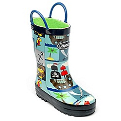 Chipmunks - Boys pirate print welliess