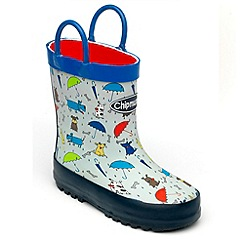 Chipmunks - Boys blue raindogs wellingtons