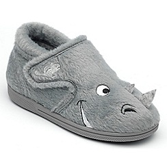 Chipmunks - Boys grey ralph the rhinoceros slipper