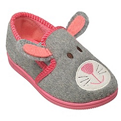 Chipmunks - Girls grey ria the rabbit slipper
