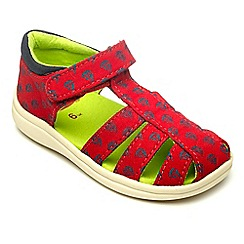 Chipmunks - Boys Rick red canvas sandal