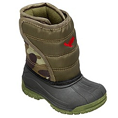 Chipmunks - Boys khaki 'scot' waterproof boot