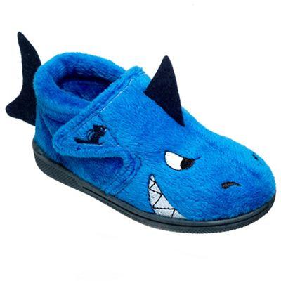 Chipmunks Boys blue shark slipper - . -