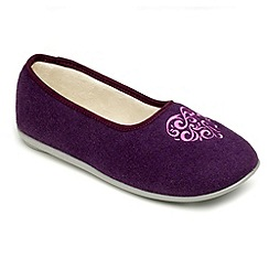Freestep - Purple felt ladies slipper