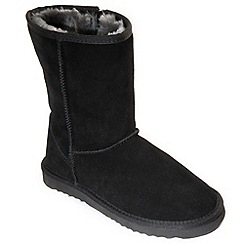 Freestep - Black 'snug' ladies suede boot