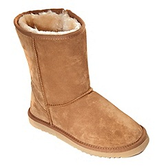 Freestep - Tan 'snug' ladies suede boot