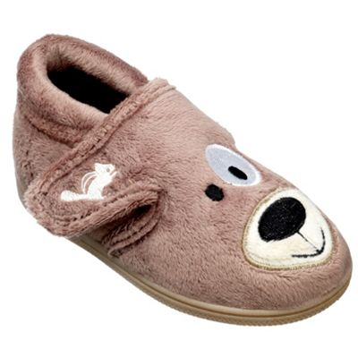 Chipmunks Boys brown spike the dog slipper - . -