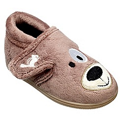 Chipmunks - Boys brown spike the dog slipper