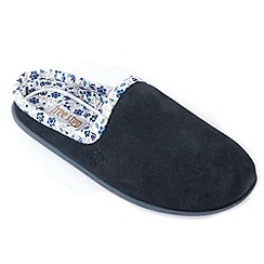 Freestep - Navy suede ladies mule slipper