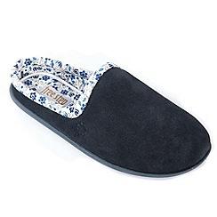 Freestep - Navy suede ladies mule slipper
