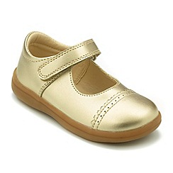 Chipmunks - Girls metallic gold leather Tara shoes