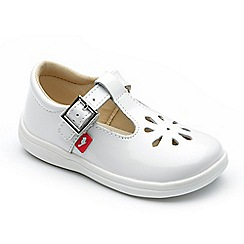 Chipmunks - Girls 'Trixie' white patent leather shoes