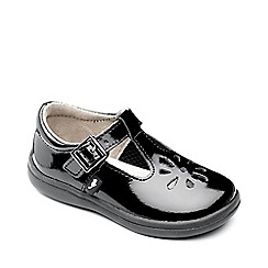 Chipmunks - Girls 'Trixie' black patent leather shoe