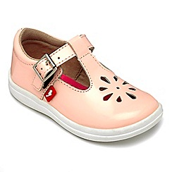 Chipmunks - Girls Trixie nude patent leather shoe.