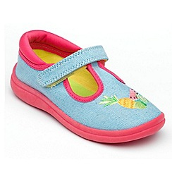 Chipmunks - Girls 'Tutti' light blue canvas shoe