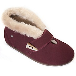Freestep - Wine suede ladies bootie slipper