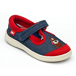 Chipmunks - Boys 'Woof' denim canvas shoe