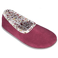 Freestep - Burgundy suede ladies full slipper