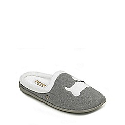 Freestep - Grey textile ladies (EEE) slipper