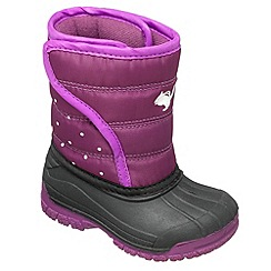 Chipmunks - Girls purple 'Zara' waterproof boot