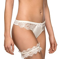 Ultimo - Ivory satin bridal thong