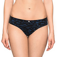 Ultimo - Blue 'The One Zebra' brazilian briefs