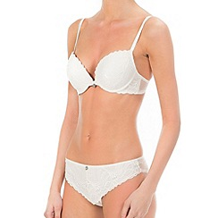 Ultimo - White 'The One Jessie' plunge bra