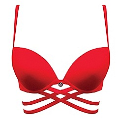 Ultimo - Red 'The One Janey' plunge bra