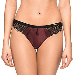 Ultimo - Plum 'Black Label Delores' thong