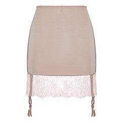 Ultimo - Pink 'Pearl' suspender slip